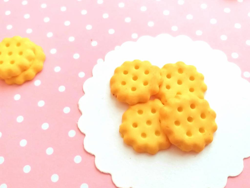 4 Cookies Cabochons, Decoden, DIY, Fake Food Cabochons , Slime, Polymer clay, Phone Case, Dollhouse, Craft Supplies