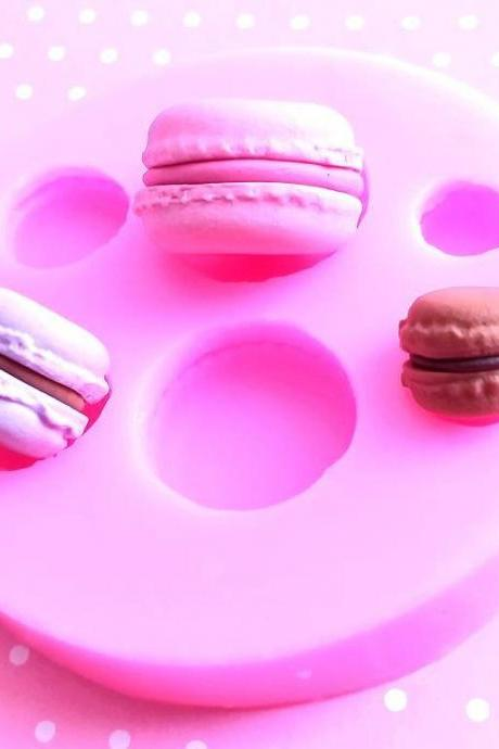 Macarons Silicone Mold, Macaron Polymer Clay Mold, Flexible Push Mold, Dollhouse Miniature Mold, Kawaii Decoden, Resin Mold, #6