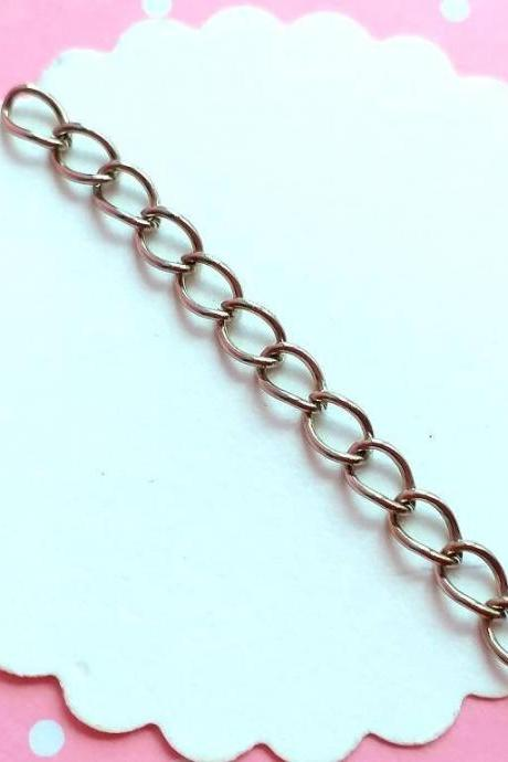 40 Chain Extension 50x3mm silver tone, Jewelry supplies